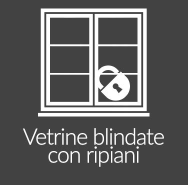 Vetrine Blindate con Ripiani